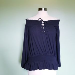 NWT! Almost Famous Black Off the Shoulder Top